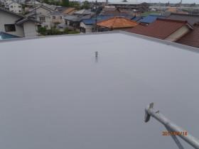 陸屋根屋上の完了