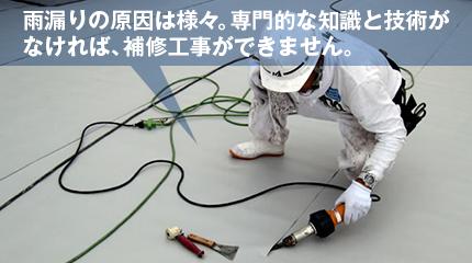 門的な知識と技術が なければ、補修工事ができません